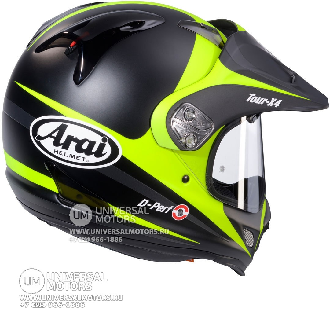 Шлем Arai Tour-X 4 Route Yellow Frost (14322191527559)