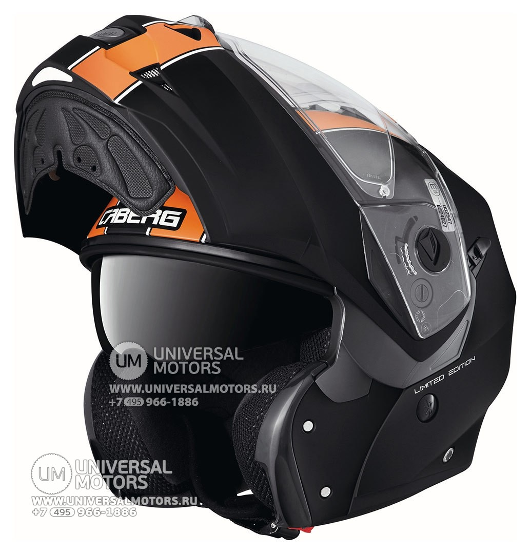 Шлем Caberg Duke Legend Black Matt/Orange (14322223657963)