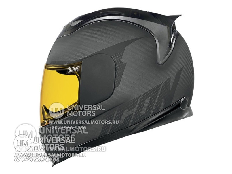 Шлем ICON AIRFRAME GHOST CARBON BLACK (1432646795085)