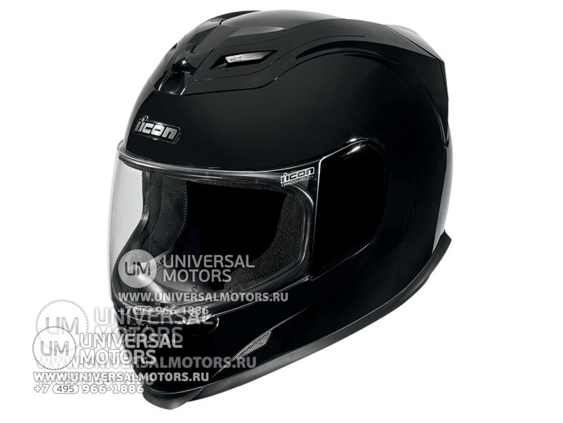 Шлем ICON AIRFRAME SOLID GLOSS BLACK (14326478941795)
