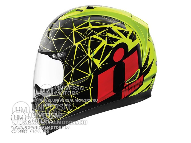 Шлем ICON ALLIANCE CRYSMATIC HI-VIZ (14326535704101)