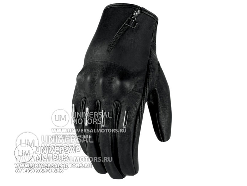Перчатки ICON HELLA KANGAROO GLOVES BLACK SHORT (14328890326827)