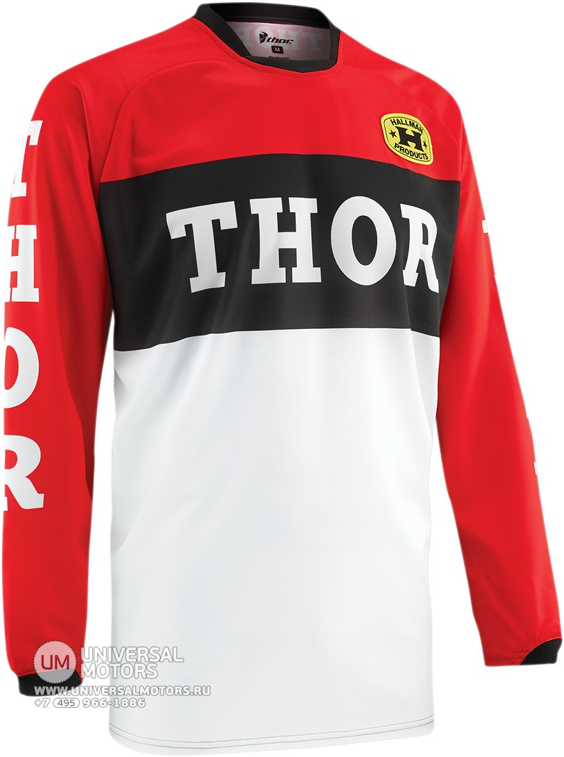 Джерси THOR PHASE PRO-GP RED/BLACK JERSEY (14380085919924)