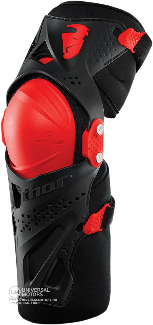 Защита колена THOR FORCE XP KNEE GUARD RED (14380868939747)