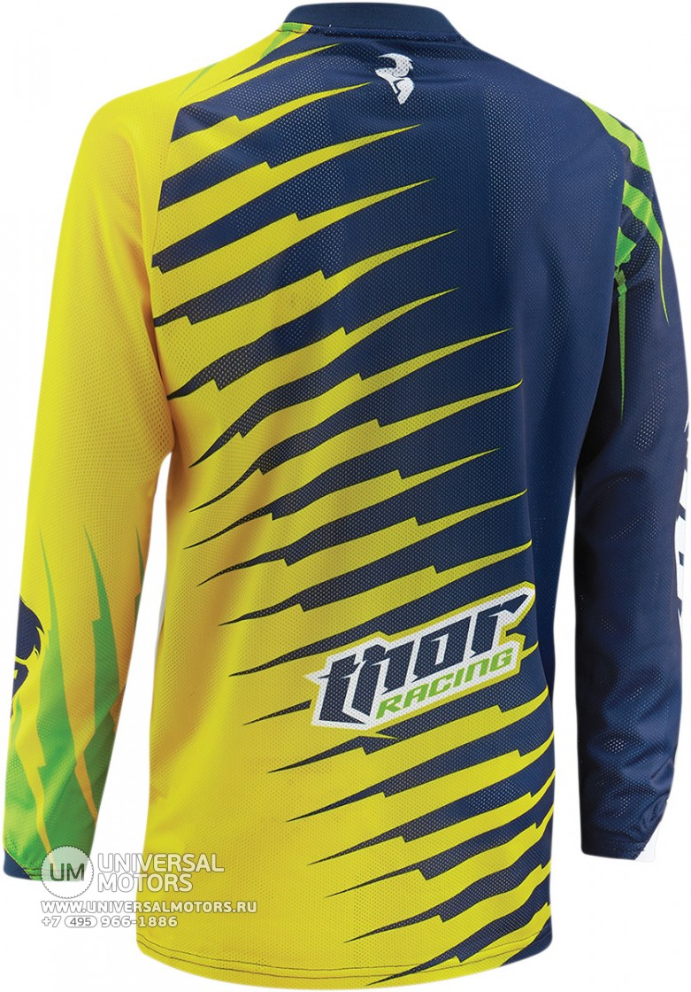 Джерси THOR PHASE VENTED RIFT LIME YOUTH JERSEY (14381650770078)