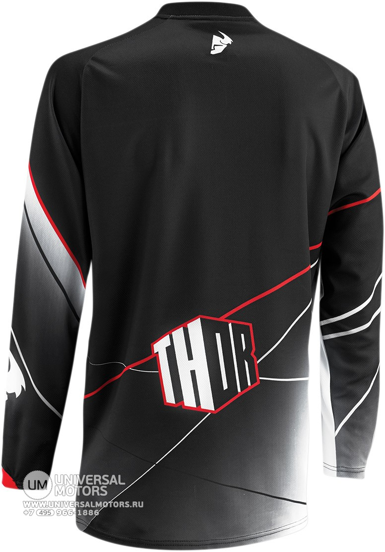 Джерси THOR PHASE PRISM BLACK YOUTH JERSEY (14381660922188)