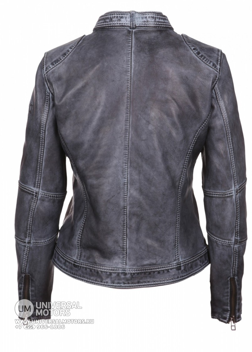 Куртка MODEKA LEATHER JACKET MILENA anthracite (14404063555848)