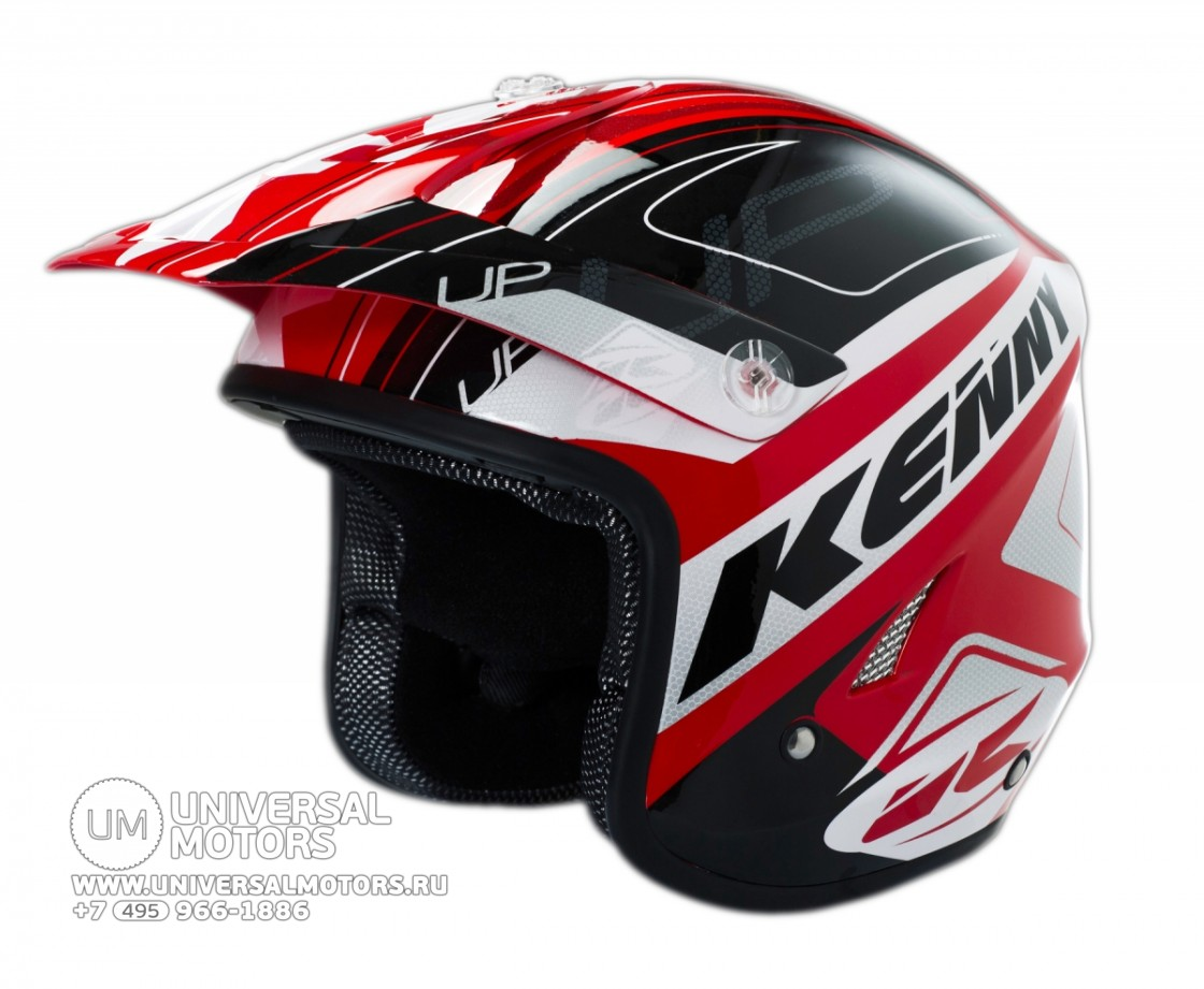 Шлем Kenny HELMET TRIAL-UP WHITE RED (14428496076518)