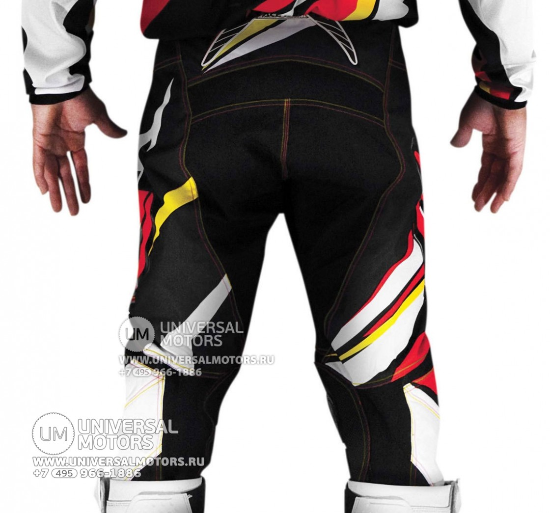 Штаны Acerbis X-Gear Pants Red Yellow (1446462778525)