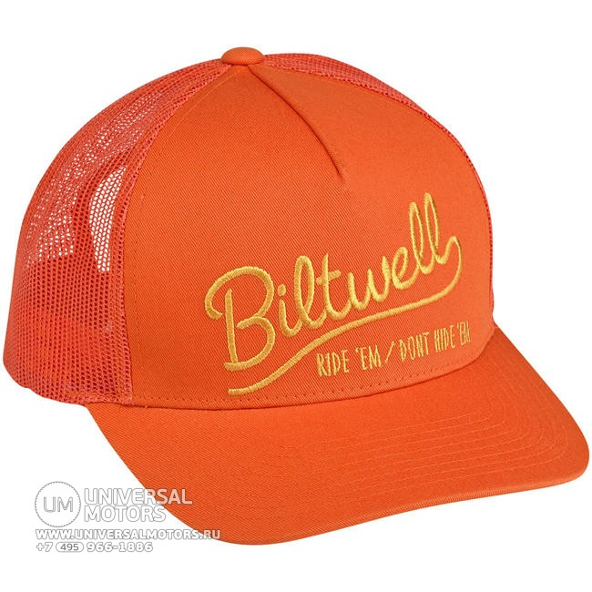 Кепка BILTWELL RIDE 'EM TRUCKER HAT - ORANGE (14721335303644)