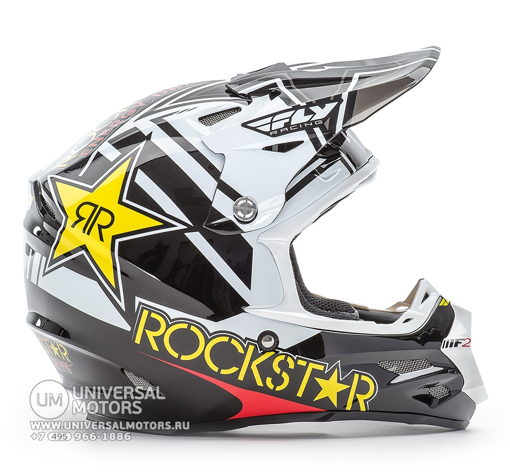 Шлем Fly Racing F2 CARBON ROCKSTAR Yellow/Black (14722135465417)