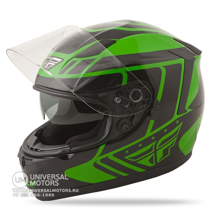 Шлем Fly Racing CONQUEST Retro Green/Black (14724650976492)