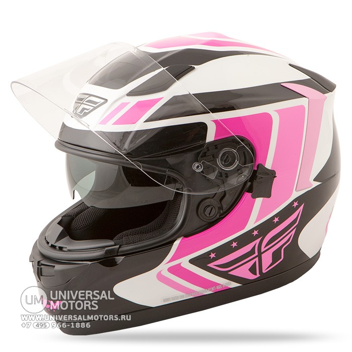 Шлем Fly Racing CONQUEST Retro Pink/White/Black (14724657045258)