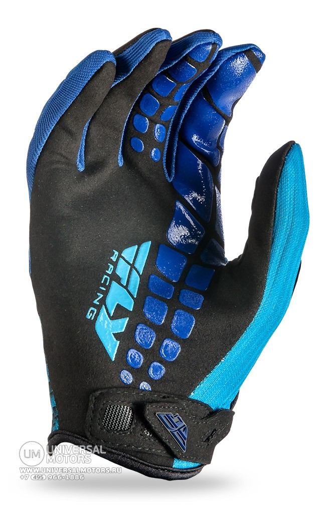 Перчатки Fly Racing 907 MX COLD WEATHER Black/Blue (14725519036074)