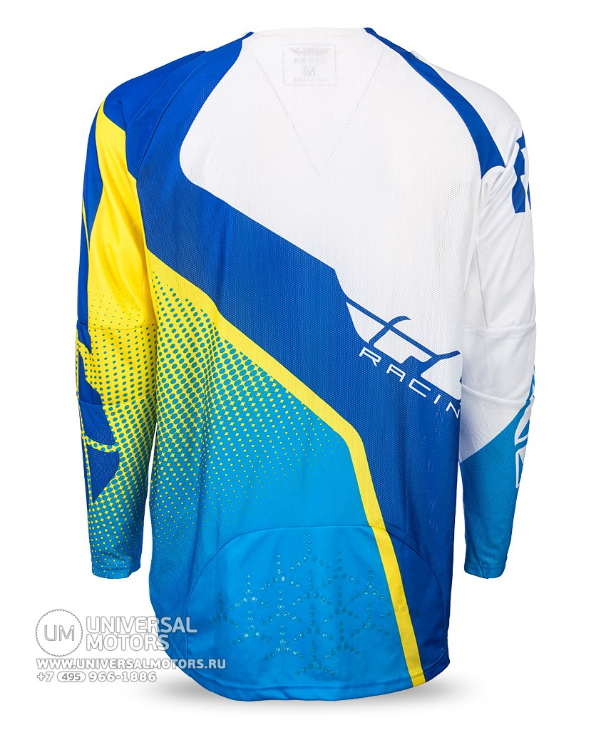 Джерси Fly Racing EVOLUTION 2.0 Blue/Yellow/White (14725661784747)