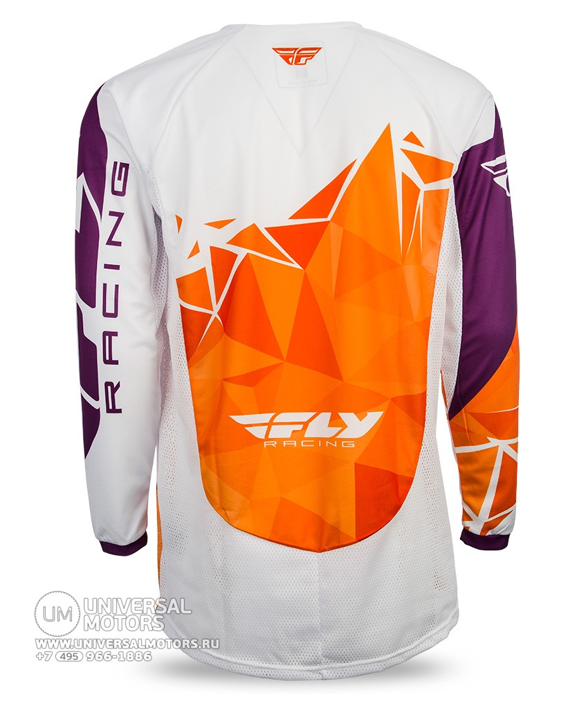 Джерси Fly Racing KINETIC CRUX Orange/Purple (14728064478299)
