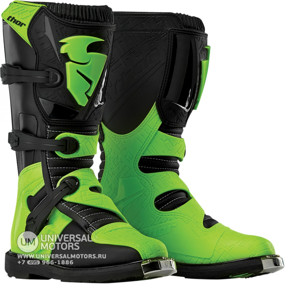 Ботинки Thor BOOT S5 BLITZ CE BLACK/GREEN (14380884292131)