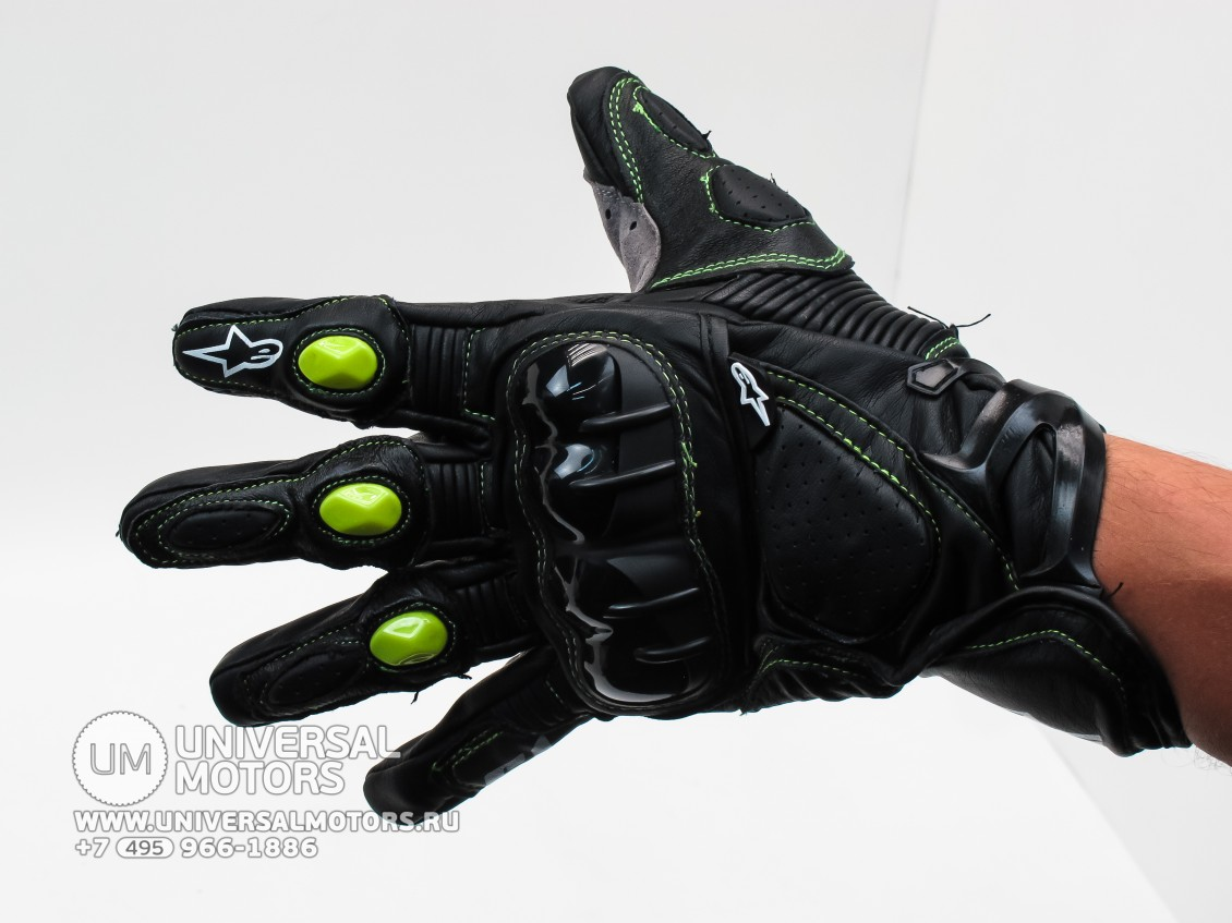 Перчатки AlpineStars S1 Black/Green r (15638058068932)