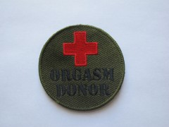 Шеврон Orgasm Donor
