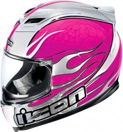 Шлем Icon Airframe Claymore Chrome Pink