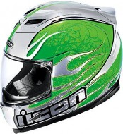 Шлем Icon Airframe Claymore Chrome Green