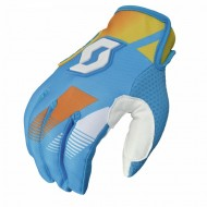 Перчатки Scott 350 Race light blue/yellow