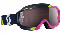 Очки Scott Hustle MX asymmetric dark blue/pink silver chrome works