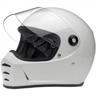 Шлем Biltwell LANE SPLITTER HELMET - GLOSS WHITE