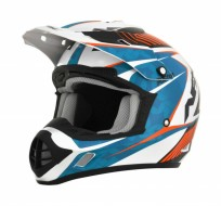 Шлем AFX FX-17 COMP OFFROAD PEARL WHITE/BLUE/ORANGE