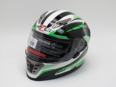 Шлем HIZER B599 white/green