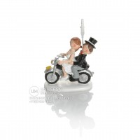 Booster Deco Figure Wedding Motorbike with Clip 1