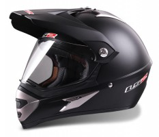 Шлем LS2 MX433 WITH VISOR SINGLE MONO Matt Black