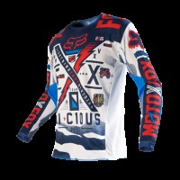 Джерси подростковая Fox 180 Vicious Youth Jersey Blue/White (MX16)