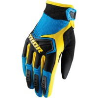 Перчатки THOR YOUTH SPECTRUM BLUE/BLACK/YELLOW