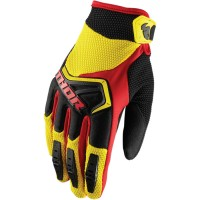 Перчатки THOR YOUTH SPECTRUM YELLOW/BLACK/RED