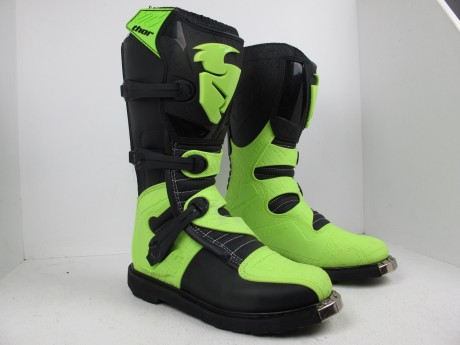 Ботинки Thor BOOT S5 BLITZ CE BLACK/GREEN (14731542934269)