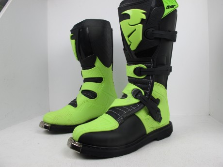 Ботинки Thor BOOT S5 BLITZ CE BLACK/GREEN (14731542942234)
