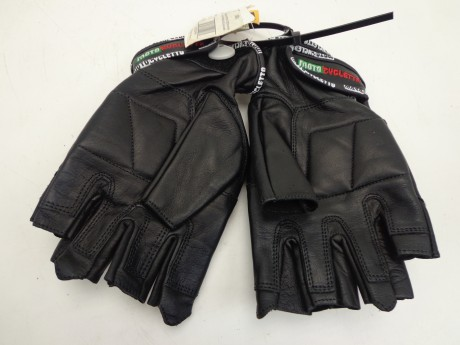 Перчатки MOTOCYCLETTO без пальцев HALF-FINGER BLACK, кожа (15514582572037)