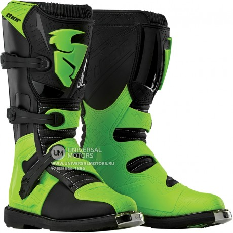 Ботинки Thor BOOT S5 BLITZ CE BLACK/GREEN
