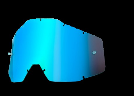 Визор 100% JR ANTI FOG LENS MIRROR BLUE