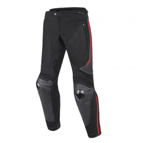 Брюки Dainese MIG LEATHER-TEX PANTS Black/Red-Lava