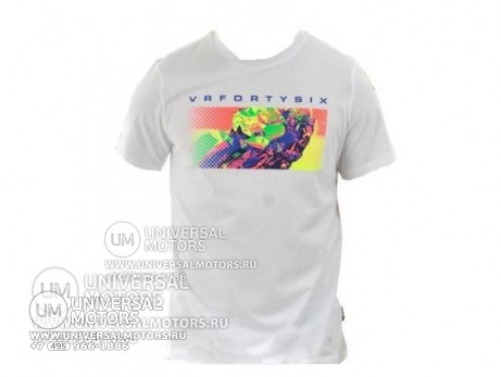 Футболка Dainese VR46 T-SHIRT POP 2013 E02 WHITE (14325609308092)
