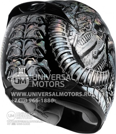 Шлем ICON AIRMADA BIOSKULL CHROME (14356680367253)