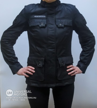 Куртка ICON 1000 AKORP JACKET RESIN BLACK WOMENS (1493305692184)
