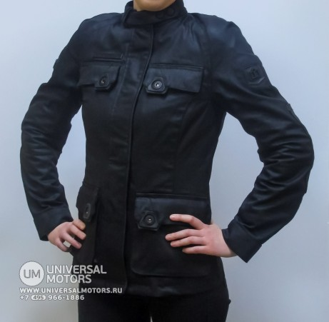 Куртка ICON 1000 AKORP JACKET RESIN BLACK WOMENS (14933056930757)