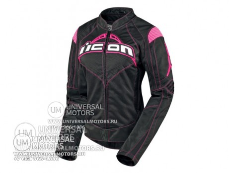 Куртка ICON CONTRA JACKET BLACK/PINK (14328235071759)