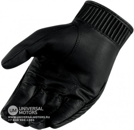 Перчатки ICON HELLA KANGAROO GLOVES BLACK SHORT (14374997190057)