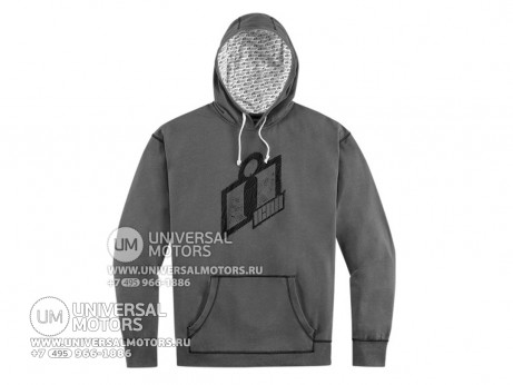 Кофта ICON DOUBLE UP HOODY CHARCOAL (14334196429794)