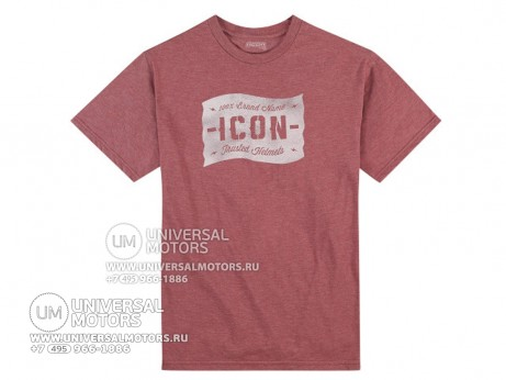 Футболка ICON 1000 STATISTIC TEE BURGUNDY (14335060462726)