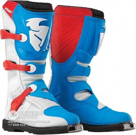 Ботинки Thor BOOT S5 BLITZ CE RED/BLUE (14380885721342)